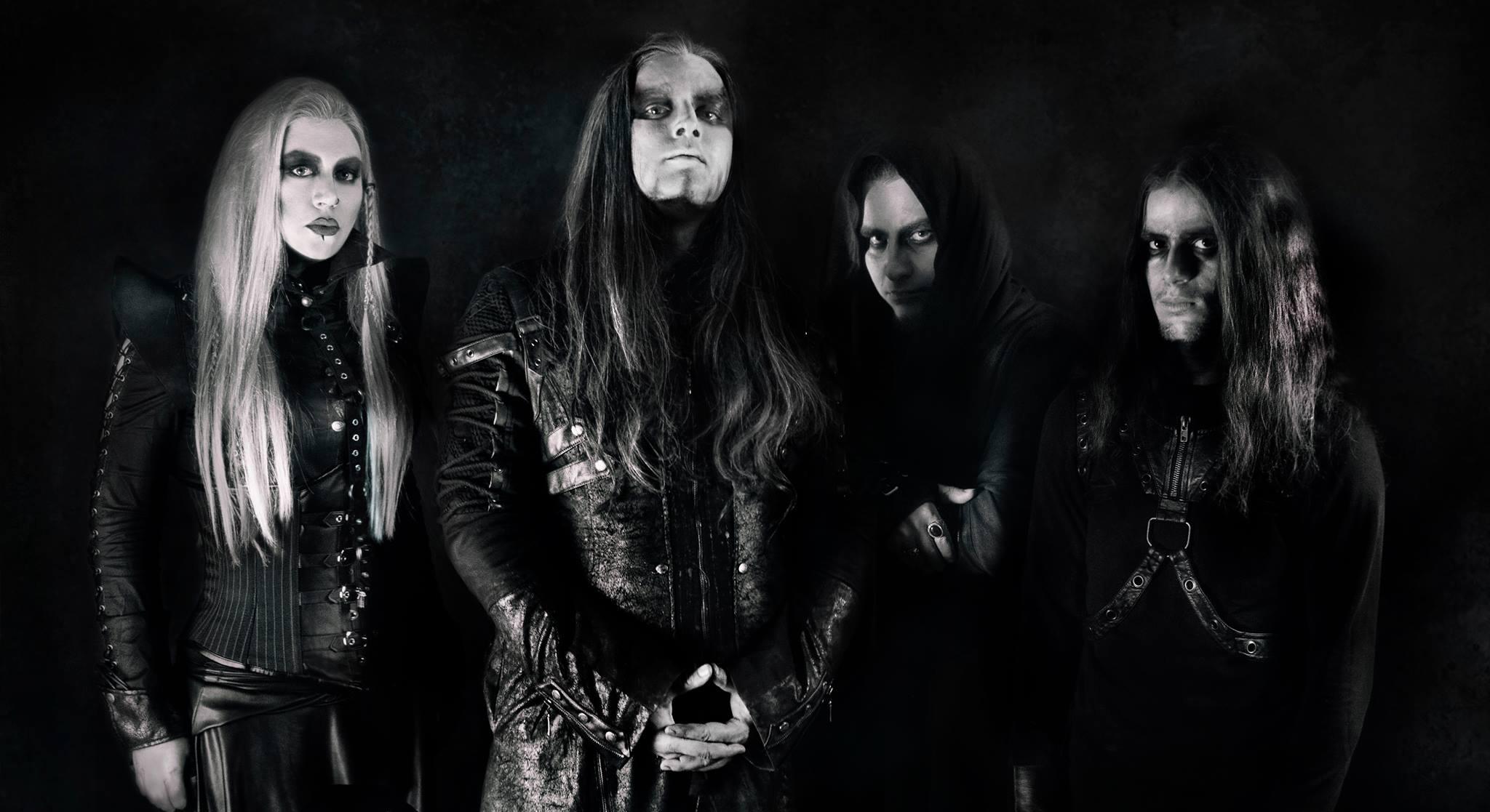 W.E.B. band members (Sakis Darkface, Sextus S Maximus, Help Pyre, Nikitas Mandolas)